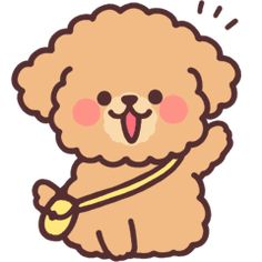 fluffy toy poodle 3 – LINE stickers Cartoon Dog Drawing, Poodle Drawing, Cute Dog Drawing, Cute Dog Cartoon, Cute Animal Drawings Kawaii, Cute Cartoon Drawings, Wallpaper Iphone Cute, Dog Wallpaper, Kawaii Wallpaper