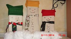 These are my scrap wood snowmen.