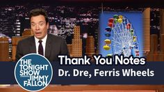 thank you notes jimmy fallon Jimmy Fallon Youtube, Facebook Features, Tonight Show, Thank You Notes, Make You Smile, Ferris Wheels, Tv, People, Television Set