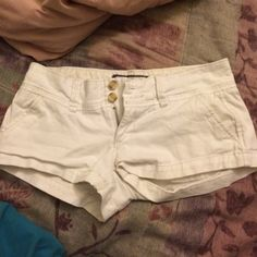 White Abercrombie and Fitch Shorts Never worn. Too small for me :( Abercrombie & Fitch Shorts