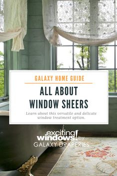 Window sheers are a fantastic option for any living space, combined with heavier window treatments or alone for a more delicate aesthetic. Window Sheers, Curtains And Draperies, Custom Curtains, Drapery, Window Coverings, Window Treatments, Galaxy Homes, Your Design, Living Spaces