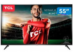 """Smart TV 4K LED 55"""" TCL P65US Wi-Fi HDR - 3 HDMI 2 USB - Magazine Vendasonlineweb Propaganda E Marketing, Smart Tv 4k, Wi Fi, Tv Led, Ultra Hd 4k, Usb, Neymar Jr, 50th, Tecnologia"""