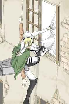 Between the cleaning duties.XD Erwin Smith x Rivaille (Levi) Armin, Levi X Petra, Levi And Erwin, Loki Drawing, Anime Character Drawing, Attack On Titan Ships, Attack On Titan Levi, Connie Springer, Eruri