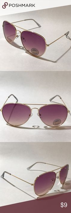 Bryant | Colored Lens Gold Aviator Sunglasses ✅ 1 Pair of Gold Metal Aviator Sunglasses ■ Gold Frame ■ Colored Lenses ■ Nose Pieces ■ Aviator ■ High Quality ■ 100% UV Protection ■ Men or Women  ✅ 1 Free Black Microfiber Pouch  ✅ All orders ship within 24 hours Monday - Friday.  Orders placed on weekends/holidays ship next business day  ✅We love our customers!  Please let us know if you aren't satisfied and we will work with you to achieve happiness! :-)  #ShadeME - What's your style?…
