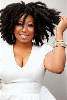 Head full of be-YOU-tiful TIGHTLY-COILED hair!  :)))  Can't wait til my twist-outs look like this!  :)