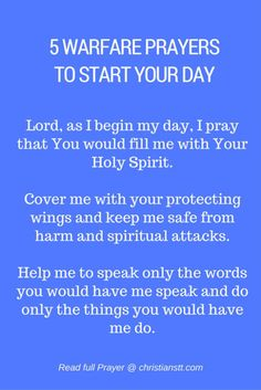 5 Warfare Prayers to Start Your Day                                                                                                                                                                                 More