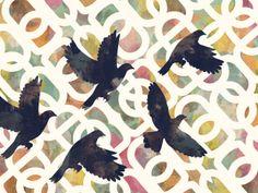 Black Doves by Cozamia Art