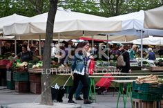 Fruits and vegetables market in Ljubljana, Slovenia Royalty Free Stock Photo