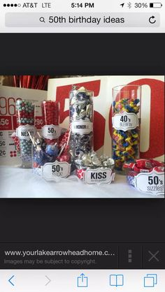 different numbers but i like the idea Moms 50th Birthday, Fifty Birthday, Fiftieth Birthday, 60th Anniversary Parties, Birthday Table Decorations, 50th Birthday Party, Birthday Ideas, Milestone Birthdays, T 4