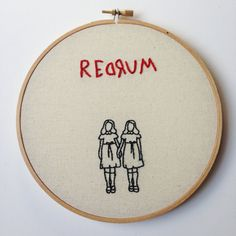 The Shining Creepy Kids Embroidery Art