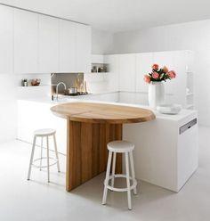 Kuchynské Pracovné Doskybarové Pulty Recepčné Pulty Laboratórny - Contemporary kitchen with modular work island el_01 by elmar