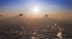 View from Ostankino Tower, Moscow, by Dmitriy Chistoprudov. (Source translated, original at http://chistoprudov.livejournal.com/29539.html)