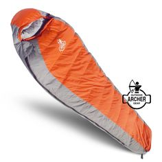 Imported.Large mummy sack is 85in x 30in x 22in, providing plenty of room & comfort for adults or kids. Shell is lightweight, water-resistant, 320t, rip-stop nylon for complete protection from the elements. Inner liner is made from synthetic silk, polyester fiber that provides optimal freedom of movement. Comfortable temperature of -5f, comes with handy compression sack for compact storage in a backpack and weighs in at just over 4 pounds for easy hiking.
