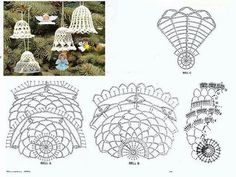 Crocheted bells with graphs