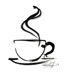 ARTFINDER: Brushstroke Coffee Cup No.8 by Kathy Morton Stanion