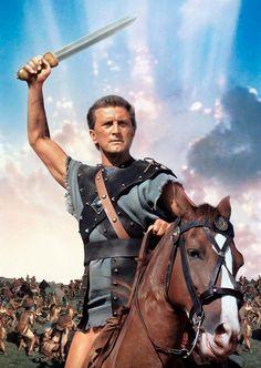 Kirk Douglas como o personagem Spartacus no filme de mesmo nome