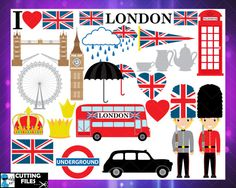 Cutting Files London SVG Eps Png Jpg Digital Graphic by HaHaHaArt