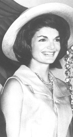 "First Lady Mrs ~~Jacqueline Lee (Bouvier) Kennedy Onassis ""Jackie"" (July 28, 1929 – May 19, 1994). She is remembered for her contributions to the arts and preservation of historic architecture, her style, elegance, and grace. She was a fashion icon; her famous ensemble of pink Chanel suit and matching pillbox hat has become symbolic of her husband's assassination and one of the lasting images of the 1960s ♡❤❤❤♡❤♡❤❤❤♡ http://www.firstladies.org/biographies/firstladies.aspx?biography=36"