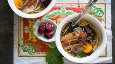 Duck and scallop ramen