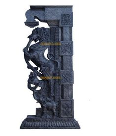 Yali in south indian hindu temples Buddha Sculpture, Stone Sculpture, Chettinad House, Temple Drawing, Indian Temple Architecture, Pillar Design, Hindu Statues, Wooden Brackets, Stone Pillars
