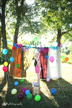 This would be a fun set up for a 2nd birthday shoot