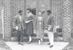 1950s fashion african americans | ... mingling outside the Patton Library at Okolona College, c.1950s