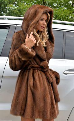 Pastel Saga Mink FUR Coat Hood Belt Fourrure Vison НОРКА МЕХ Nerz Jacket Trench | eBay