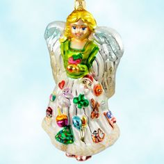 Radko's For Always handblown glass ornament brings good luck to every holiday & special occasion!
