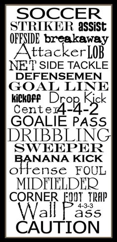 Soccer all the way. It's simple.