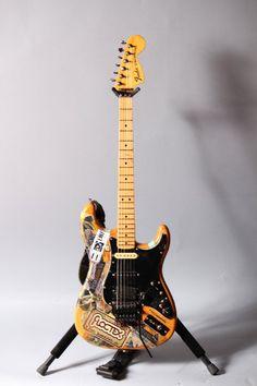 "Steve Vai's Fender Strat Natural Finish W/Floyd Rose & Custom Switching ""Sticker Strat"""