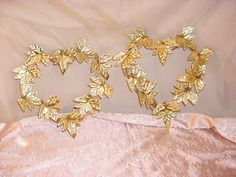 Vtg Metal Sculpture Wall Decor Copper and Brass tone 10 inch HEARTS Lot of 2  Seller florasgarden on ebay