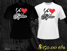 Playeras (unisex) Parejas Novios Bff Amigos Wife, Serigrafia - $ 120.00 en MercadoLibre