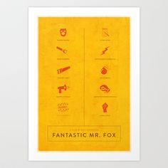 Fantastic Mr. Fox (2009) Art Print by Craig Bradley - $20.80