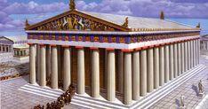 Τα χρώματα στην αρχαιότητα και ειδικότερα για τους αρχαίους Έλληνες ήταν χρώματα το κόκκινο, το κίτρινο, το μαύρο και το άσπρο  και μετη μίξη αυτών μεγάλωναν σημαντικά τη χρωματική τους γκάμα. Τα εν λόγω χρώματα χαρακτηρίζονταν ως βασικά.   #αρχαίαελλάδα #ζωγρα Ancient Greece, Athens, Pergola, Outdoor Structures, Blog, Magazine, Temple, Greece, Viajes