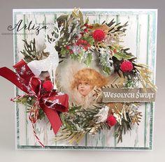 Scrap Pasja: Zimowa kartka świąteczna