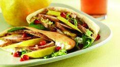 Casablanca Pear and Chicken Sandwich - http://food-management.com/poultry/casablanca-pear-and-chicken-sandwich