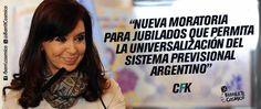 #Jubilaciones //   #CFK #Cristina #LAPresidenta #LaJefa #Militancia #Argentina #PatriaGrande #Latinoamérica #AméricaLatina #AméricaLatinayelCaribe #Iberoamérica #Sudamerica #LaPatriaEsElOtro #UnidosyOrganizados #MovimientoNacionalyPopular