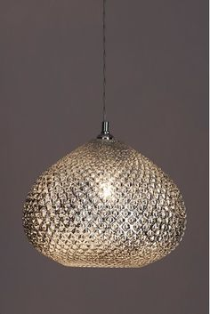 Next Glamour Easy Fit Pendant - Chrome Hall Lights Ceiling, Light Fixtures Bedroom Ceiling, Room Lights, Bedroom Lighting, Hanging Lights, Living Room Lighting Ceiling, Ceiling Light Shades, Bedroom Decor, Lounge Lighting