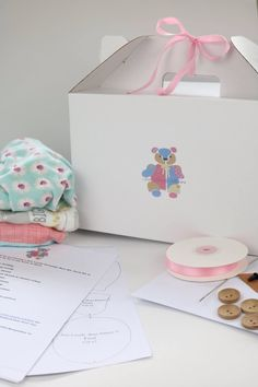 DIY memory bear kit. Make your own keepsake bear with this wonderful kit that includes everything you need to make your very own beautiful keepsake bear. The kit includes the Sew Lovely Keepsakes Keepsake Bear Pattern, detailed instructions and everything else you need to turn your baby's or other loved-ones clothing into precious keepsakes .