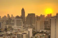 Bangkok Cityscape at Sunset_ Thailand