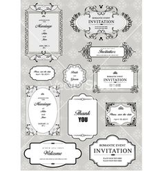 A set of wedding invitation frames and templates - Vector graphic from VectorStock