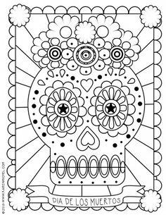 Dia De Los Muertos Coloring Page | Printable Coloring Pages