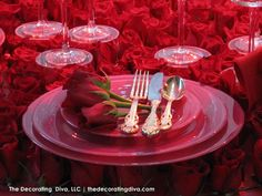 Table Decor Ideas Engagement or Valentines Party | The Decorating Diva, LLC