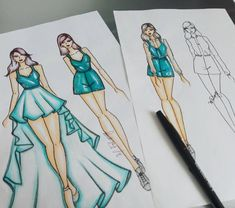 New Design Fashion Sketchbook Ideas Dress Design Sketches, Fashion Design Drawings, Fashion Sketches, Fashion Design Illustrations, Drawing Fashion, Fashion Sketchbook, Sketchbook Ideas, Fashion Illustration Dresses, Dress Drawing