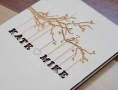Custom Wedding guest book wood rustic wedding by TotallySalinda, $40.00