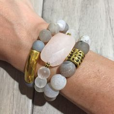 Druzy agate and jade beaded bracelets under 25 free shipping