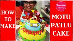 How to make Motu Patlu 2019 cake: decorating tutorial Easy Kids Birthday Cakes, Cartoon Birthday Cake, Friends Birthday Cake, Animal Birthday Cakes, Frozen Birthday Cake, First Birthday Cakes, Cake Decorating Classes, Cake Decorating Tutorials, Happy Bday Cake
