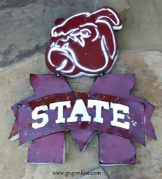 Rustic Metal 3D Mississippi State Bulldogs Sign  www.gugonline.com