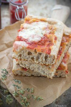Pizza semi integrale a lievitazione naturale