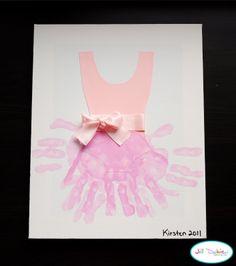 handprint ballerina tutu art.  I think any little girl would love this, especially little ballerina's